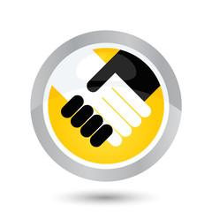 partnerschaft hand schütteln symbol zeichen