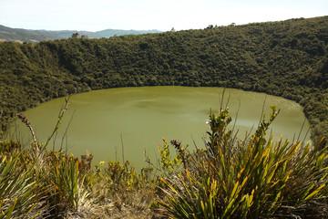 Guatavita volcanic lagoon, Cundinamarca, Colombia. Muiscas rites