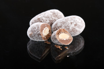 almonds in the chocolate.