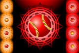 Red baseball and backgrounds