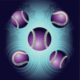Violet baseball and backgrounds