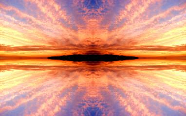 夕焼け空の背景
