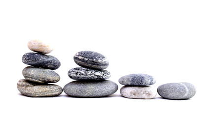stones on a white background