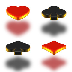 Poker simbol 3d