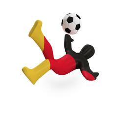 Figur Fußball (mit Freistellungspfad/clipping path)