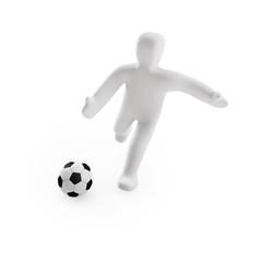 Figur Fussball (mit Freistellungspfad/clipping path)
