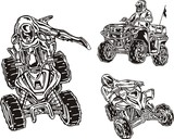 The racer on a quadbike shows the skill. ATV Riders. poster