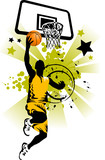 basketball player in yellow