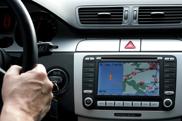 exclusive car dashboard and gps