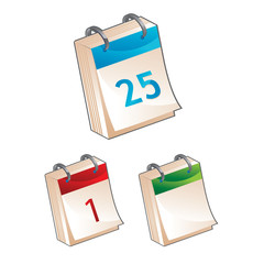 calendar icon - vector illustration