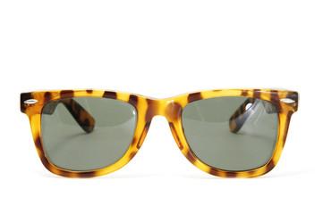 horn-rimmed sunglasses
