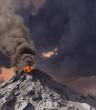 erupting of volcano - 21997790