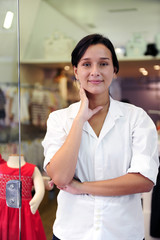 small business owner: proud woman  shop