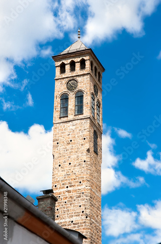 Watch tower detail in Sarajevo