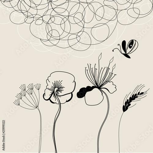 Background with flowers © Regina Jersova