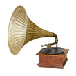 Gramophone. Clipping path included.