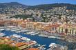Sea port of Nice city, France