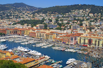 Sea port of Nice city, France