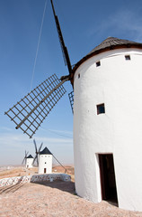 Three spanish windmills