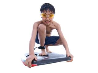 boy on the bodyboard
