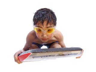 boy on the bodyboard