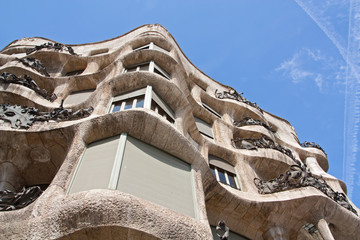 La Pedrera facade close up