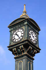 Old clock in Jewellery Quarter, Birmingham, England