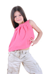 Little girl posing