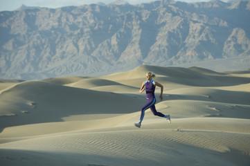 Runner on Sand Dunes