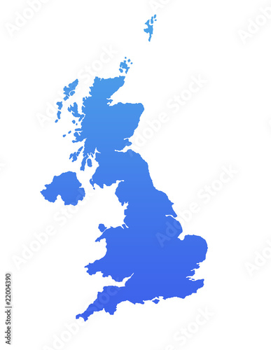 Blue England map
