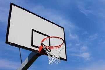 basket hoop over sky