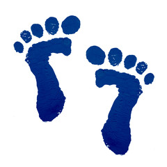 Baby feet print