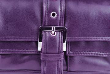 aubergine violet leather bag buckle