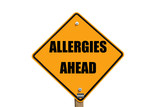 allergies warning sign poster