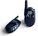 Two portable radio sets on a white background
