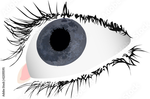 eye and moon reflection illustration