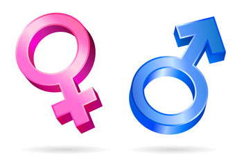 male female gender symbols vector