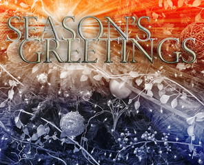 Seasons Greetings concept background