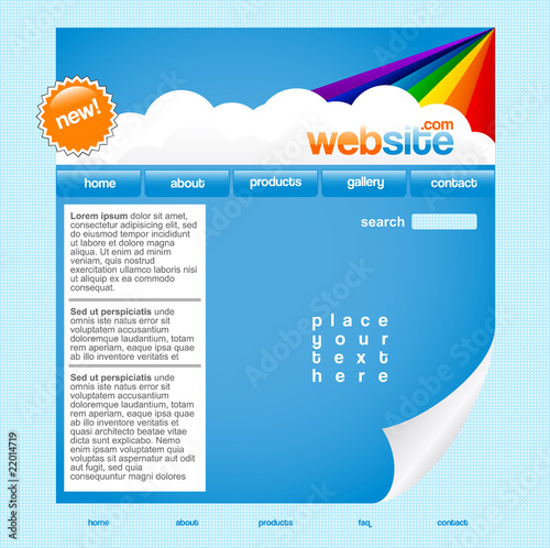 Rainbow website template