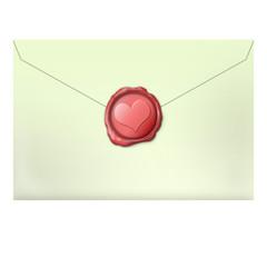 liebesbrief mit siegel