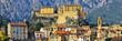 Vue panoramique de la citadelle et de la ville de Corte en Corse - 22017570
