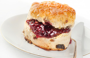Jam filled Scone