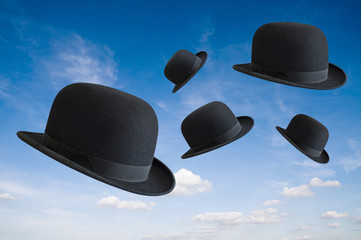 Hats in the air