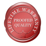 lifetime warranty proofed quality poster
