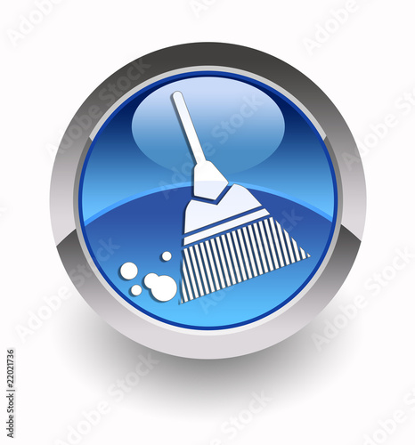 ''Broom'' glossy icon