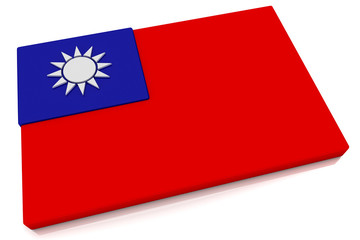 3D Taiwan Flag Button