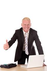 Successful Businessman laptop