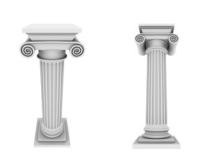 Marble columns two views
