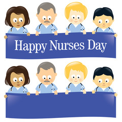 Happy Nurses Day Isolated