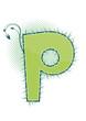 letra P alfabeto ecology